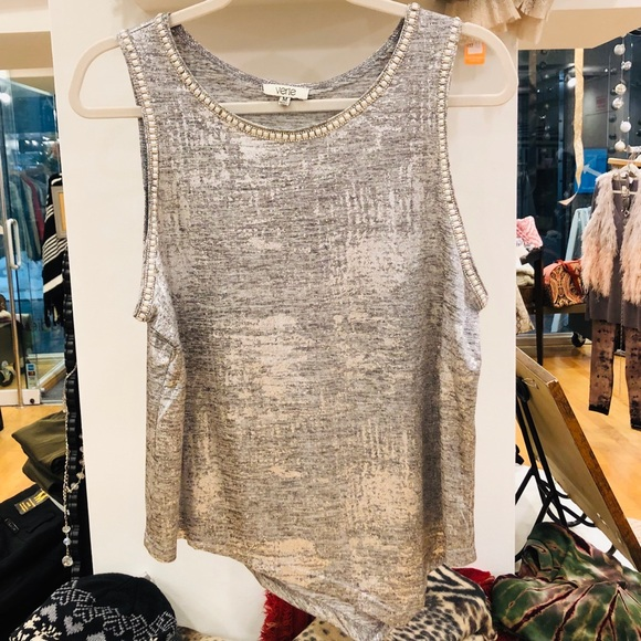 Tops - Silver Pearl Detail Tank